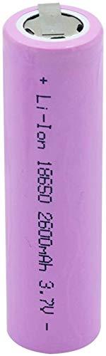 18650 3,7 v 2600 mah baterías Planas de Iones de Litio baterías de Litio de Larga duración con 2 orejetas para el Gamepad del Banco de energía de la antorcha 1 Piezas