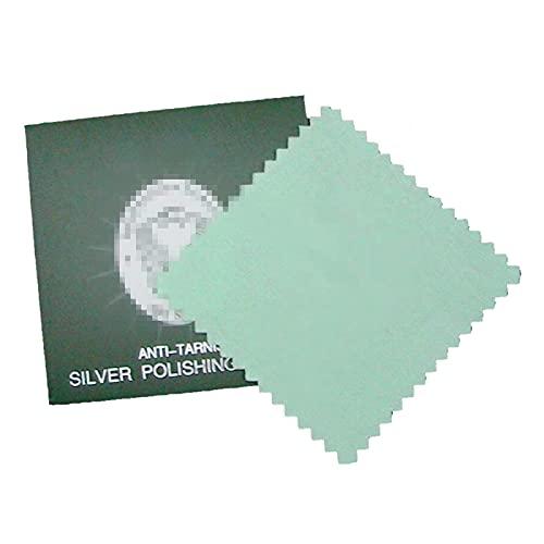 Paño de limpieza de joyas, paños de limpieza y pulido para monedas de oro y plata, platino, relojes y cubiertos//142 (tamaño: 8,2 x 8,2 cm)