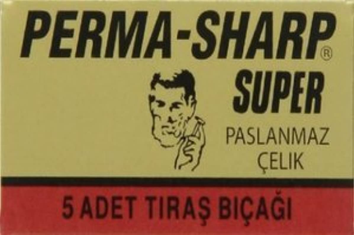 周辺更新慈悲深いPerma-Sharp Super 両刃替刃 5枚入り(5枚入り1 個セット)【並行輸入品】