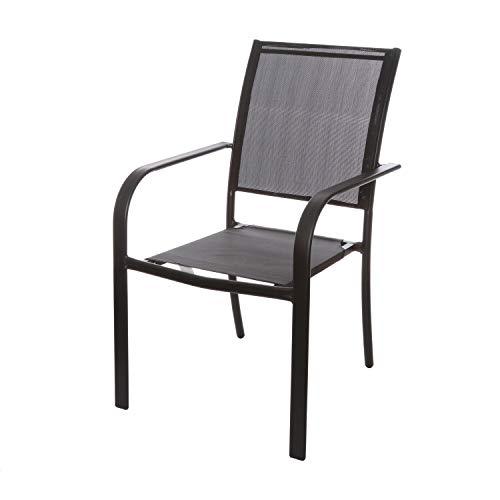 Sedia capotavola nera in acciaio, da 55x90x66 cm