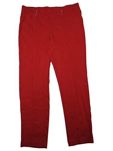 Rafaella Womens Size 18 Comfort Slim Leg Dress Pants, Ruby Texture (Red)