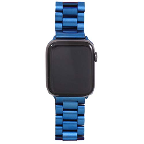 KAAGGF Correa para Apple Watch6, 5, 4, 3, 2, 1, 42, 38, 40, 44 mm, metal y acero inoxidable, para accesorios de la serie IWatch (color de la correa: 4LS, ancho de la correa: 38 mm, 40 mm)