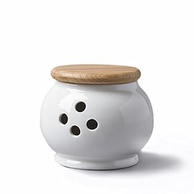 Cks Garlic Storage Pot with Beech Lid