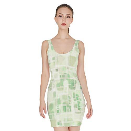 T-ara Stile alla Moda Nuova Stampa Casual Fiction Gioielli New Green Green Block Print Mini Gonna Gonna Skirt Jumper Sedia da Salotto Morbido e Confortevole (Color : Mixed Color, Size : 2XL)