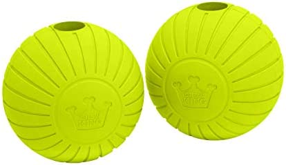 Chew King Supreme Rubber Fetch Balls Extremely Durable Natural Rubber Toy 2 5 inch Yellow CM product image