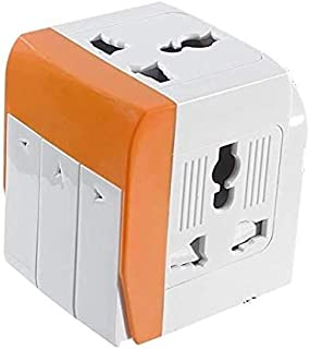 Heavy Duty Outlet Wall Plug Adapter Power Strip for Cell Phone Charger, Power Adapter, 3 Prong, Multi Outlet Wall Charger, Quick & Easy Install, For Home Office, Home Theater, Kitchen, or Bathroom