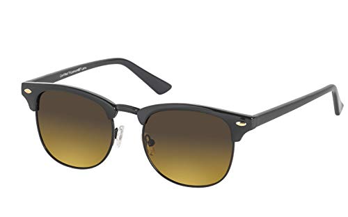 Eagle Eyes Palmer Polarized Sunglasses - Semi Rimless Frame - Black
