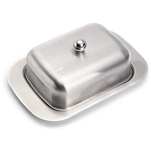 Mantequillera de acero inoxidable para queso y mantequilla,