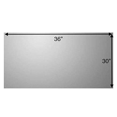 """Stainless Steel Backsplash, 36"""" x 30"""" with Formed Edges"""