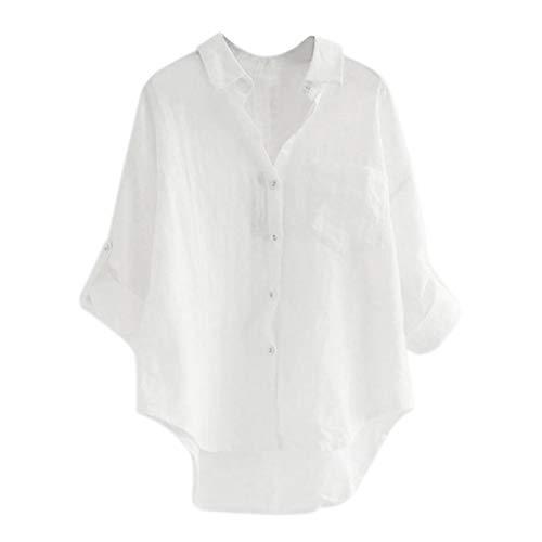 Blouse T-Shirts Femme, Manadlian Haut à Manches Longues pour Femmes Chemisier Automne M-XXL