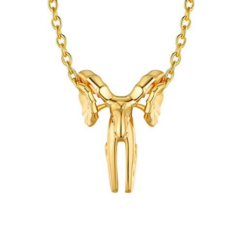 Colgante de Aries bañado en oro