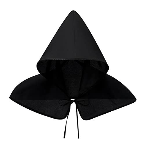 Kongqiabona-UK Capa de Capucha Capa de Capucha sombría de Halloween Disfraces de Cosplay Poncho con Capucha Prop