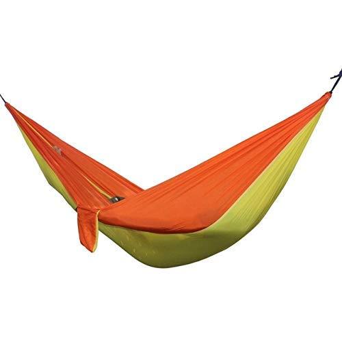 ZXL Hangmat voor buiten, draagbaar, hangmat voor reizen, camping, survival, schommel, tuin, hangstoel, zwart Orange yellow