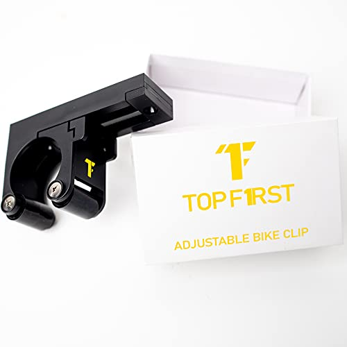 Topf1rst Bike Clip Wall Mount - Adjustable Bicycle Rack/Hook Storage System, Mounted Indoor or Outdoor, Horizontally or Vertically, in Garage or Home - All in One Size Parking Buckle/Cycle Stand
