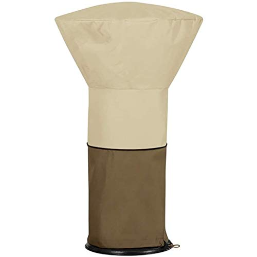 LMDH Patio Heater Covers Waterproof with Zipper, 420D Fabric Heavy Duty Stand Up Propane Cover, for Round Dome Heaters