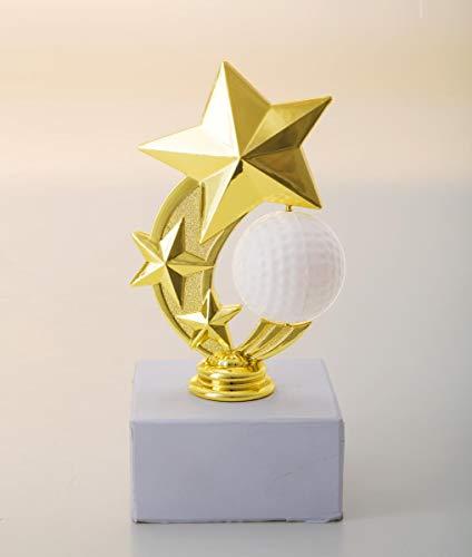 Henecka Golf-Pokal, Komplettfigur Golf, Gold, mit Wunschgravur, Größe 16,2 cm