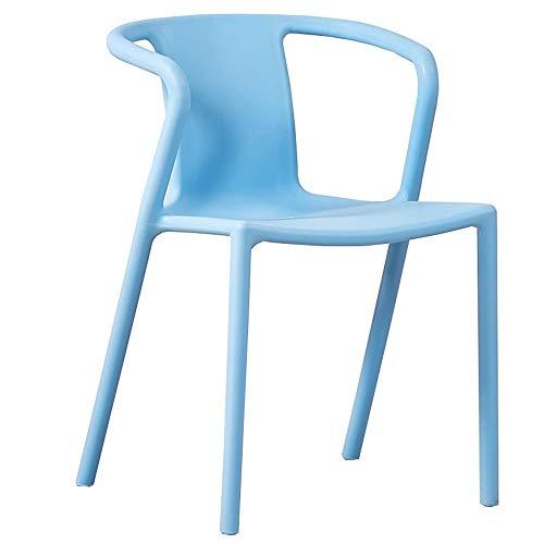 WHOJA Sillas de Comedor Sillón respaldo Encimera de la cocina Comedor de casa Adecuado para restaurantes, salones, bares. Sillas de esquina (Color : Blue)