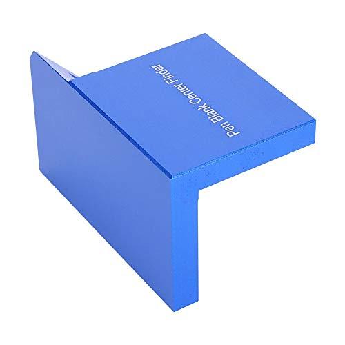 Medidor de carpintería Center Scriber Herramienta de buscador de centro de carpintería 45 °/90 ° Herramienta de diseño de medición de trazo de ángulo recto Accesorio de carpintería de medidor (Blue)