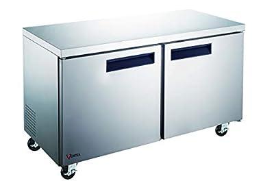 """Vortex Refrigeration - Commercial 2 Door 48"""" Under Counter Freezer - 12 Cu. Ft."""