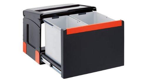 FRANKE Cube 50 32L Rectangular Black Trash Can – Trash Cans (32 L, Rectangular, Black, 438 mm, 330 mm, 345 mm)