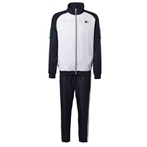 Kappa IBOA Herren Trainingsanzug, Blau/Weiß, FR: S (Größe Hersteller: S)
