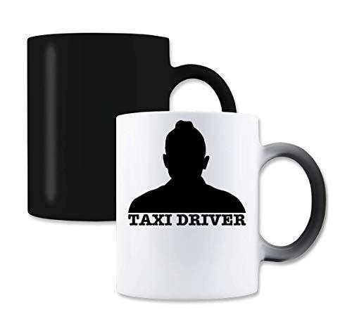 Taxi Driver Silhouette De NIRO magische kleur de thee-koffiemok verandert