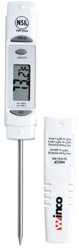 Winco 6-Inch Digital Thermometer with 3-1/8-Inch Probe
