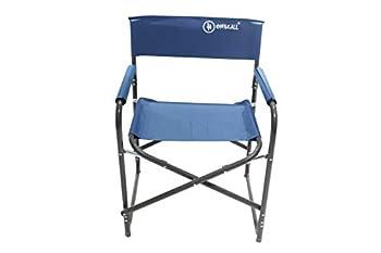 Homecall Chaise de camping pliable en aluminium avec dossier (Bleu)