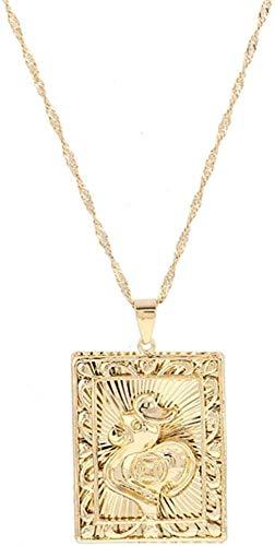 GLLFC Collar para Mujer, Collar para Hombre, Collar con Colgante de Pollo de Color Dorado para niña, Cadena de Gallo, joyería, Regalos, Collar Colgante, Regalo para niñas y niños