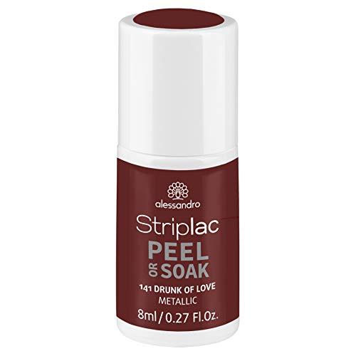 alessandro Striplac Peel or Soak Drunk of Love - LED-Nagellack in metallischem Bordeauxrot - Für perfekte Nägel in 15 Minuten, 8 ml