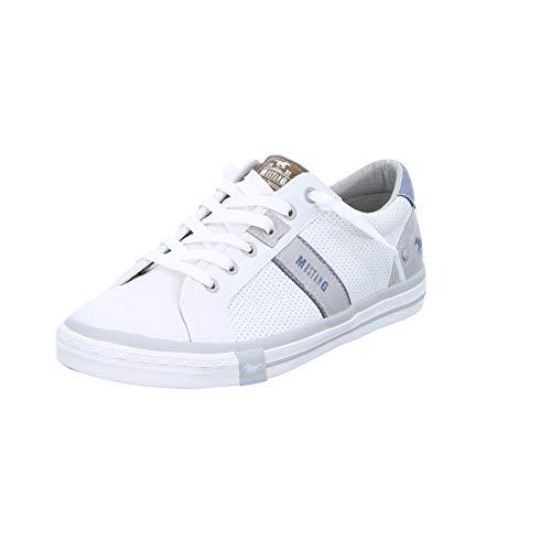 MUSTANG Herren 4072-301-1 Low-Top, Weiß (1 weiß), 44 EU