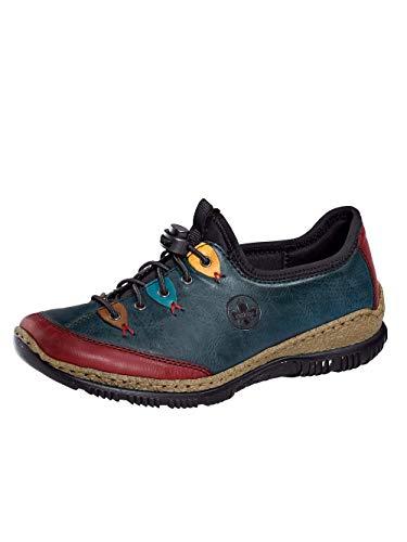Rieker Damen N3271 Sneaker, Wine/Navy/Brandy/Azzuro/senf/schwarz 35, 41 EU