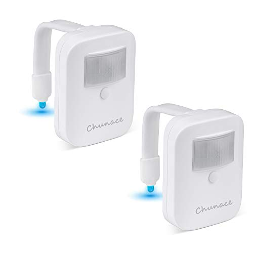 2 Pack Rechargeable Toilet Night Lights by Chunace, Motion Detection and Dusk to Dawn Sensor Light
