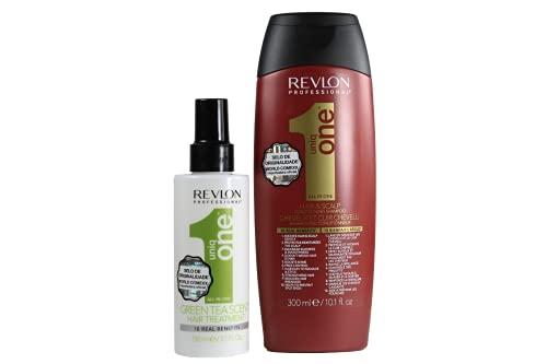 Kit Revlon Uniq One Shampoo 300ml + Leave in Green Tea 150ml
