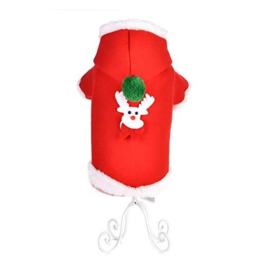 Kersttrui voor huisdieren, vintage kleding, schattig, sneeuwman, Kerstmis, huisdier, warme trui voor de vakantie (maat S, type 2)
