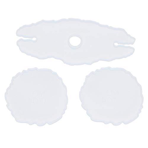 Material de silicona de alta calidad Juego de combinación de moldes para posavasos suaves y estables, moldes para posavasos, moldes para botelleros de bricolaje, para el hogar, tienda,