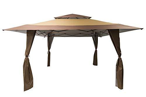 Cenador impermeable de 4 m x 4 m para patio con ruedas de transporte: Amazon.es: Jardín