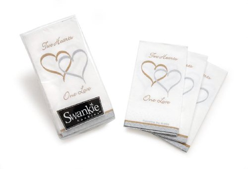 Darice VL10244 Two Hearts One Love Pocket Tissues