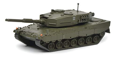 Schuco 452642200 Leopard 2A1 Panzer 1:87 452642200-Leopard, Modellauto, Modellfahrzeug, Olive
