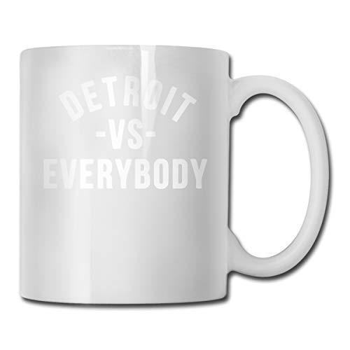 Detroit VS Everybody Fashion Coffee Cup Porcelain Mugs