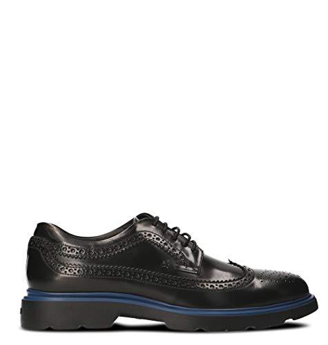 Moda Hogan Hombre HXM3040W3626Q69999 Negro Cuero Zapatos De Cordones   Temporada Permanente