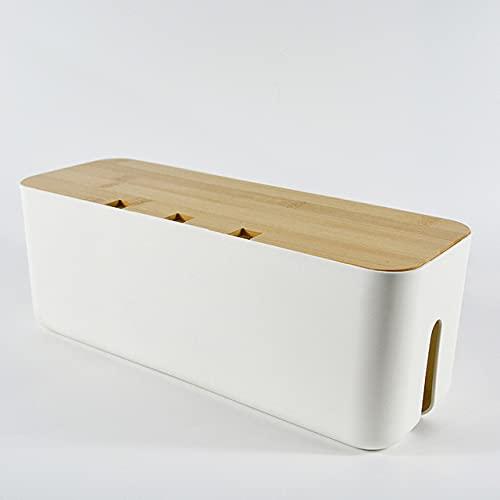 LLSL Caja de Almacenamiento de Alambre, Caja de administración del Cable de alimentación para Cubrir y Ocultar Tiras de alimentación, Caja de Organizador
