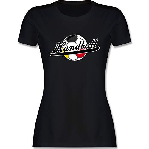 Handball WM 2021 - Handball Deutschland - XL - Schwarz - T-Shirt - L191 - Tailliertes Tshirt für Damen und Frauen T-Shirt