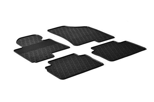 Gledring 0197 Alfombrillas de Goma Compatible con Hyundai ix35 / Kia Sportage 5-Puertas 2010-2016 (Perfil G 4-Partes + Clips de Montaje)