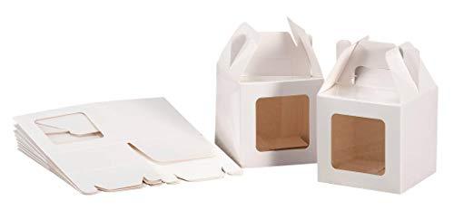 Set 12 pz scatoline portadolci in Carta cm. 12 x 12 x 12 con Finestra Colore Bianca