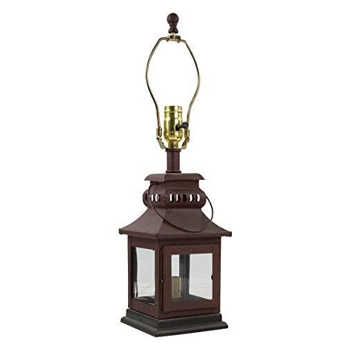 Park Designs Iron Lantern Lamp - Red