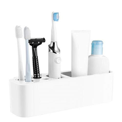 Zahnbürstenhalter - RIGHTWELL Zahnbürstenhalter Elektrische Zahnbürste - Badezimmer Aufbewahrung an der Wand befestigter Zahnbürstenhalter, Zahnpasta Halter mit Saugnapf