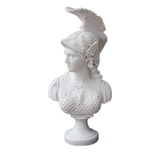 Atenea Diosa Romana de la sabiduría Estatua Resina Mármol Figura Escultura Busto Artesanías Decoración del hogar