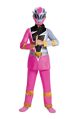 Pink Ranger Deluxe Costume for Kids, Power Rangers Dino Fury, Large (10-12)