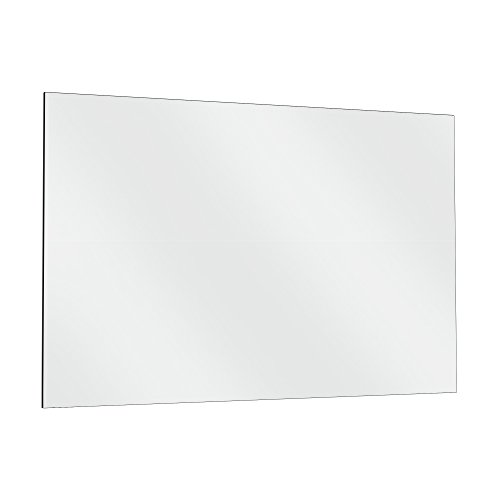 """Fab Glass and Mirror GM48x60 HD Tempered Glass Mirror for Gym & Dance Studio, 48"""" x 60"""", Clear"""